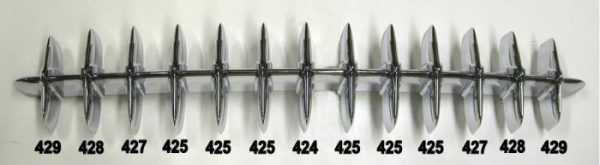 1953-1957 Corvette grille diagram