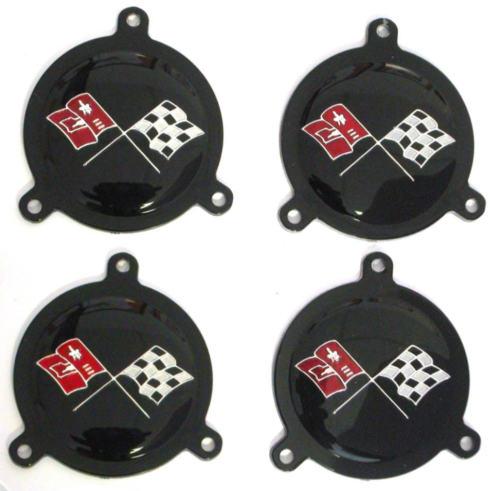 Corvette spinner emblem
