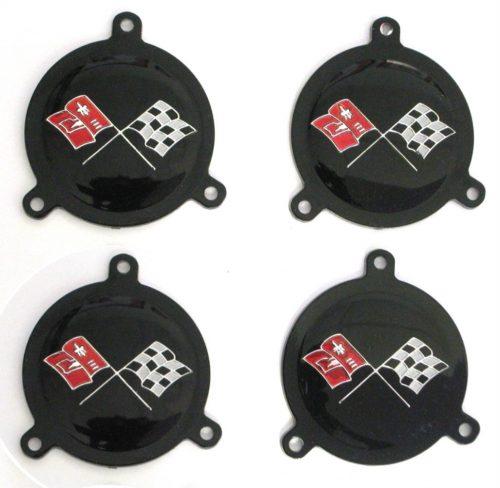 Corvette hubcap spinner emblem