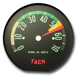 Corvette Tach Face 1961-1962