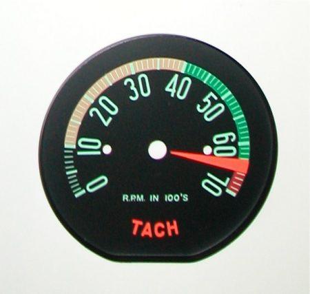 Corvette Tachometer Face
