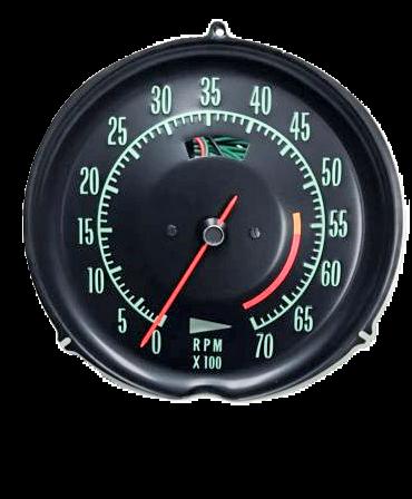68-71 corvette tachometer 5600 redline