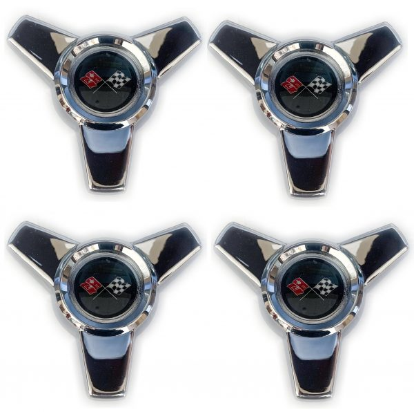 1965 Corvette Hubcap Spinner Set